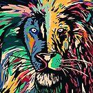 Lion multi colors closeup by weirdbird
