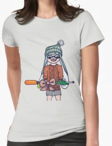 Christmas Splatoon Inkling  Womens Fitted T-Shirt