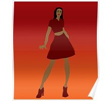 Woman in Red  Poster
