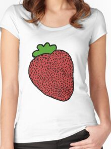 Strawberry Fruit Women's Fitted Scoop T-Shirt