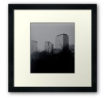 concrete forests Framed Print