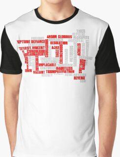 Class 50 Name Typographic Art Graphic T-Shirt