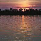Sunset over Shenango by Sandra Lee Woods