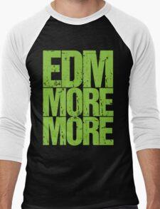 EDM MORE MORE (neon green) Men's Baseball ¾ T-Shirt