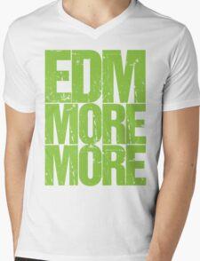EDM MORE MORE (neon green) Mens V-Neck T-Shirt
