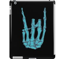 Rock On Skeleton Hand - Blue iPad Case/Skin