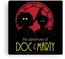 The Adventures of Doc & Marty Canvas Print