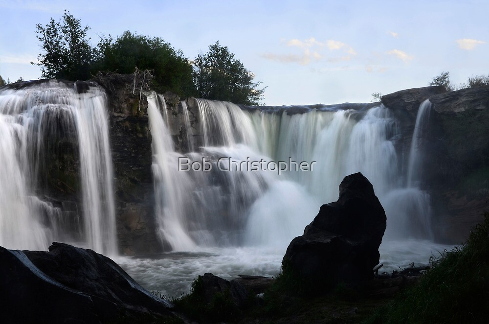 Lundbreck Falls Alberta Canada by Bob Christopher