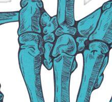 Skeletal Middle Finger - Blue Sticker