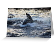 splashes and waves Greeting Card