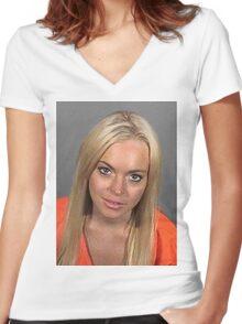 Lindsanity Women's Fitted V-Neck T-Shirt