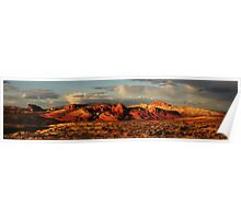 Evening Glow at the Valley of Fire Poster