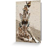 ALL DRESSED UP IN FLUTTER-BROWN Greeting Card