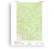 USGS Topo Map Washington State WA Loup Loup Summit 242080 1989 24000 Canvas Print