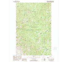 USGS Topo Map Washington State WA Loup Loup Summit 242080 1989 24000 Photographic Print
