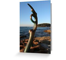 Manly Beach Sculpture Greeting Card