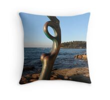 Manly Beach Sculpture Throw Pillow