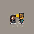 Troy and Abed in the Morning by Evert Van Houcke