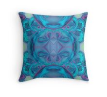 Blue Loonies Throw Pillow