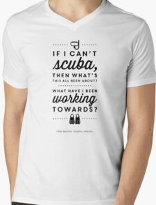 The Office - Creed Bratton If I Can't Scuba Mens V-Neck T-Shirt
