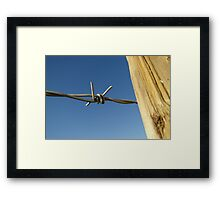 No A Fence Taken Framed Print