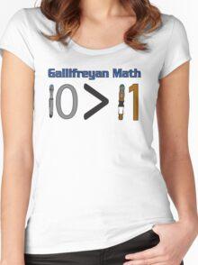 Gallifreyan Math Women's Fitted Scoop T-Shirt