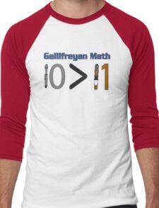 Gallifreyan Math Men's Baseball ¾ T-Shirt