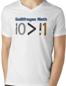 Gallifreyan Math Mens V-Neck T-Shirt
