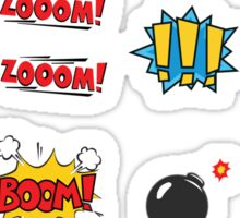 COMIC BOOK STICKERS Sticker
