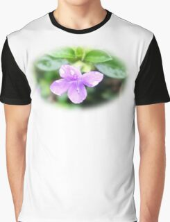 Violet Softness Graphic T-Shirt
