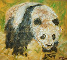 Panda Mail Art by Jennifer Ingram