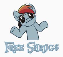 Rainbow Dash: Free Shrugs Baby Tee