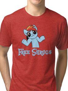Rainbow Dash: Free Shrugs Tri-blend T-Shirt