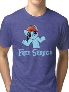 Rainbow Dash: Free Shrugs Tri-blend T-Shirt