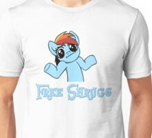 Rainbow Dash: Free Shrugs Unisex T-Shirt
