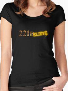 221Believe Women's Fitted Scoop T-Shirt