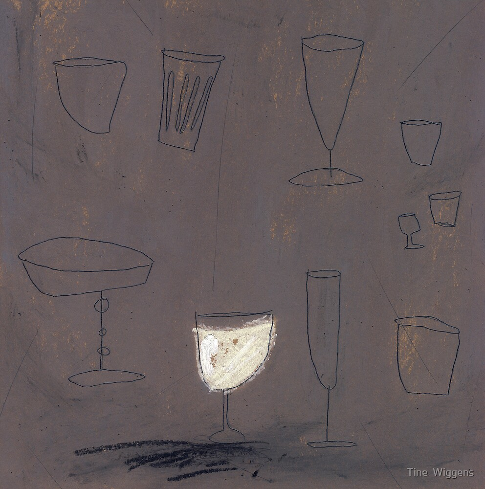 A glass of white... by Tine  Wiggens