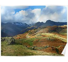 Harrison Stickle from Langdale Pikes Poster