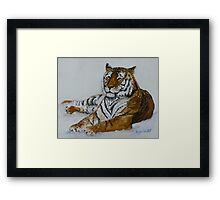 Tiger Painting  Framed Print