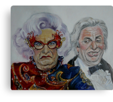 Dame Edna with Sir Les Patterson Metal Print