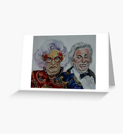 Dame Edna with Sir Les Patterson Greeting Card