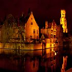 Brugge by night by Magdalena Warmuz-Dent