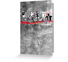 Evolution of Modern Football Greeting Card