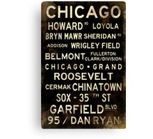 Distressed Chicago L Subway Sign Art Canvas Print