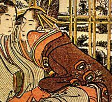 'Couples' by Katsushika Hokusai (Reproduction) Sticker