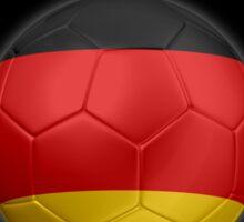 Deutschland - German Flag - Football or Soccer Ball & Text 2 Sticker