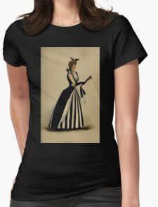Fancy dresses described or What to wear at fancy balls by Ardern Holt 184 Magpie Womens Fitted T-Shirt