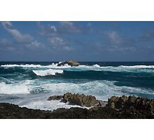 Boiling the Ocean at Laie Point, Oahu's North Shore in Hawaii Photographic Print