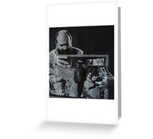 A collage is best in black and white. Greeting Card