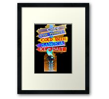 Fishbone Black Framed Print